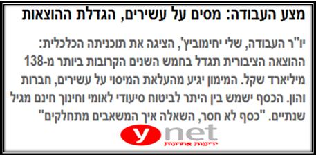בארי בן זאב - המצע הכלכלי של מפלגת העבודה